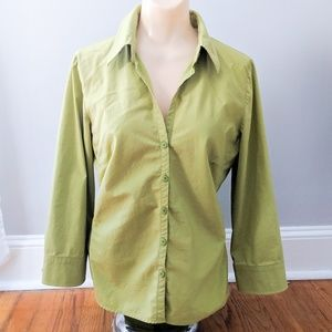 Worthington Green Stretch Easy Care Button Down